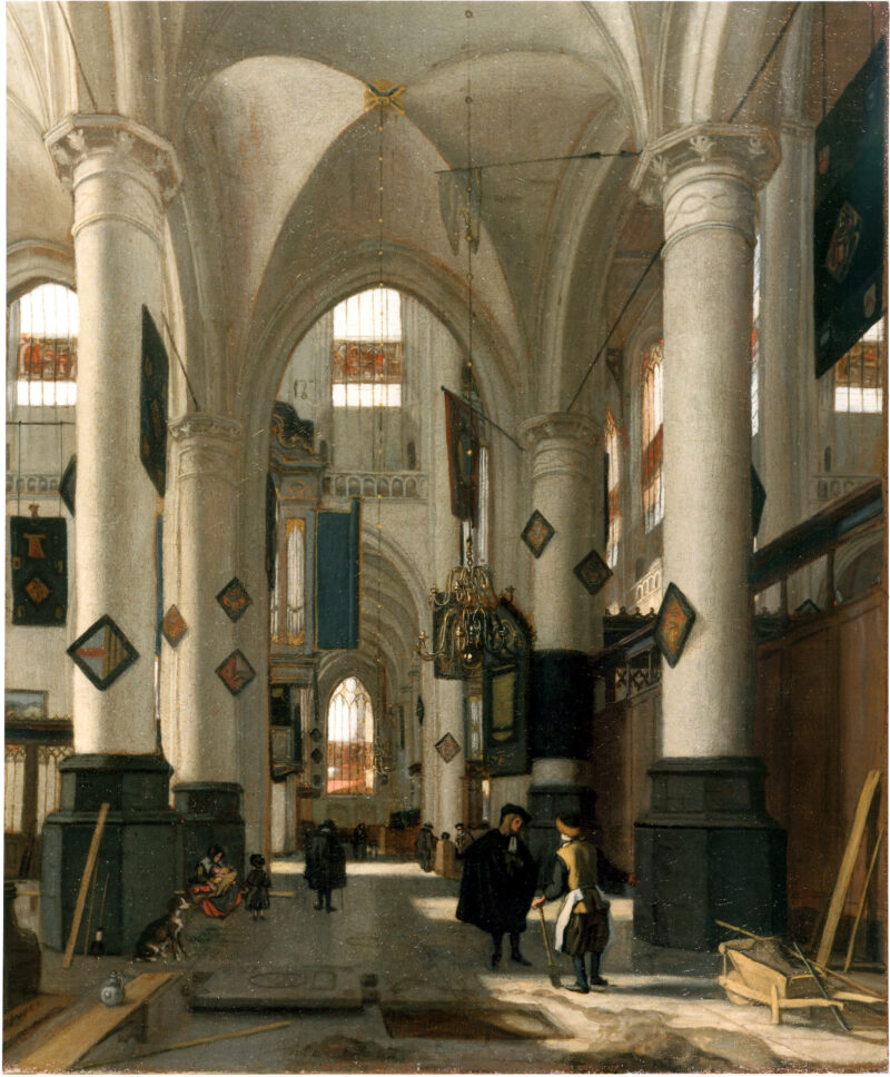 Emanuel de Witte - The Interior of a Dutch Protestant Gothic church